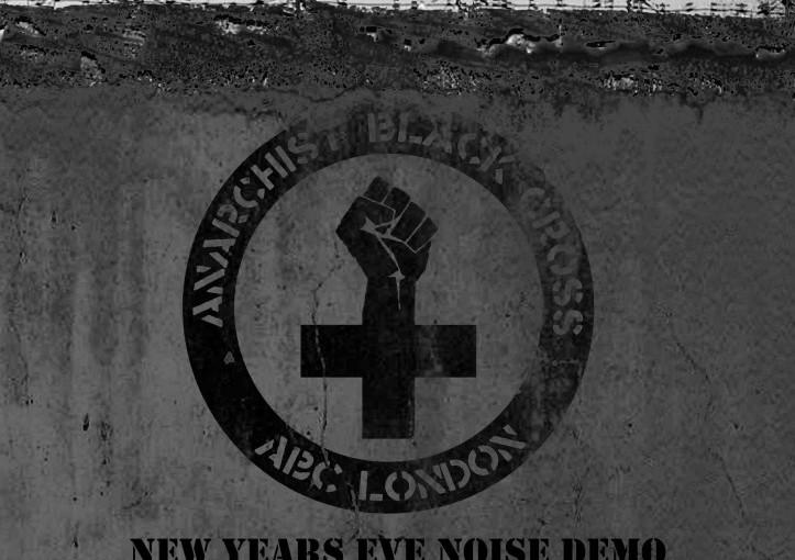 Londres, Reino Unido: Manif de solidariedade contra as prisões 2013 na véspera de ano novo