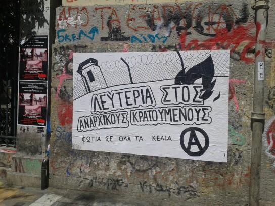 """""""Liberdade presxs anarquistas. Fogo a todas as jaulas."""""""
